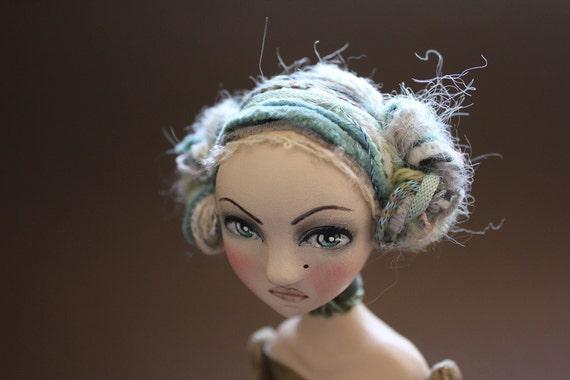 World, OOAK Clay Art Doll