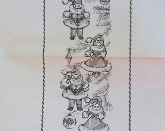 Vintage Mr. and Mrs. Santa Mini Dolls Pattern - Design 7071