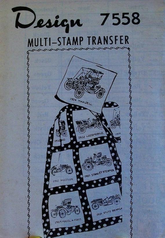 Vintage Antique Car Quilt Pattern Design 7558