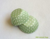 Mint Green Polka Dot Baking Cups (50)