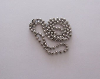 24 inch Ball Chain Necklace for charms, pendants, glass gems, dominoes by Kristin Victoria Desings