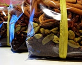 FREE DELIVERY Bag Full of Chai, Masala Chai Tea and Spice Mix, Fair trade Assam Tea, Cinnamon, Cardamom, Star Anise, Black Peppercorns, Cloves, handmade tea and spice kit, UK