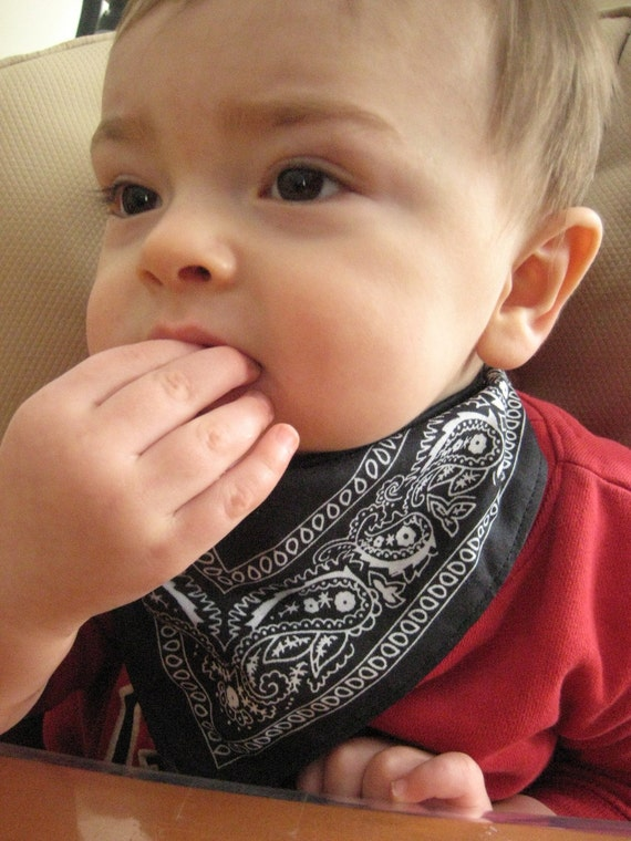 Set of 3 Bandana Bibs with 3 layers for the extra drooly baby