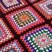 Crochet Granny Square Afghan Colourful Nine Square Granny Blanket