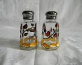 Salt and pepper shakers-painted salt and pepper shakers-painted Fall Leaves