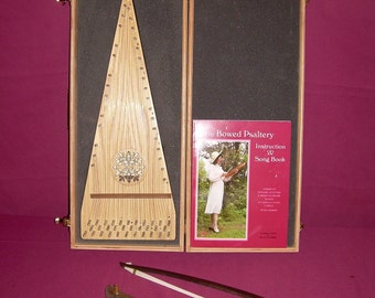 Soprano Bowed Psaltery with Case, Bow, Book, Rosin and Tuning Wrench