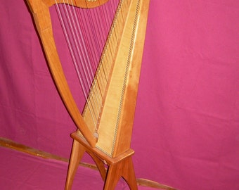 25 String Celtic Harp in Cherry with Leg Stand