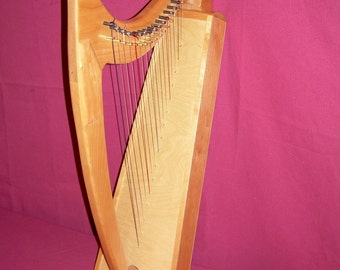 16 String Harp in Cherry