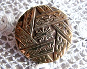Ornate Antique A. P. & Cie Paris Brass Button