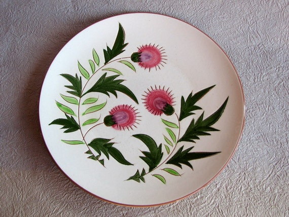 Stangl Thistle Pattern Dinner Plate