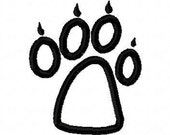 Wolf Paw Print Embroidery Machine Applique Design 10260