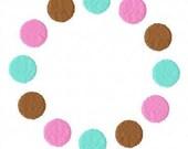 3 Color Polka Dot Embroidery Machine Alphabet Frame Design 10436