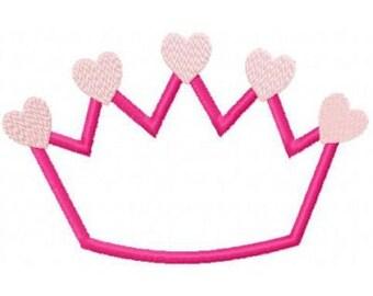 Crown Embroidery Machine Applique Design 10249