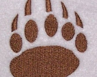 Bear Paw Print Embroidery Machine Design 10174