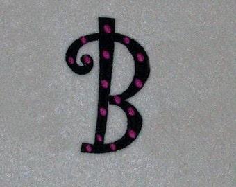 Curlz Polka Dot Embroidery Machine Alphabets Fonts and Monogram Sets10327