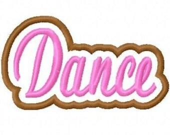 Dance Embroidery Machine Applique Design 10401