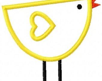 Lil Bird Embroidery Machine Applique Design 10403-INSTANT DOWNLOAD