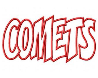 Comets Embroidery Machine Applique Design 10476
