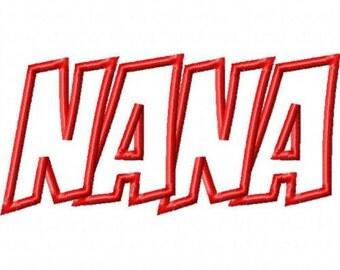 Nana Embroidery Machine Applique Design 10488