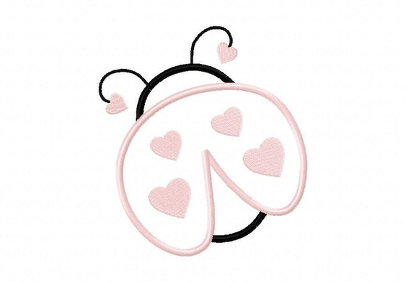 Ladybug Embroidery Machine Applique Design 10239