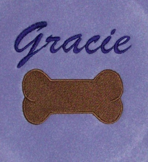 Dog Bone Applique Design. Dog bone embroidery design.