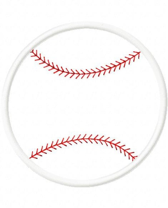 Baseball Softball Digital Embroidery Machine Applique Design 10471