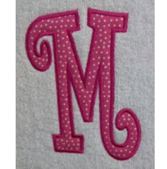 Large Curlz Digital Embroidery Machine Applique Alphabets Fonts and Monogram Sets 10228