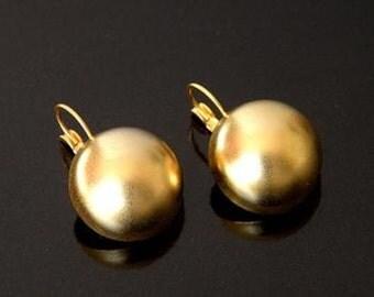 matte  24k gold  plated earrings