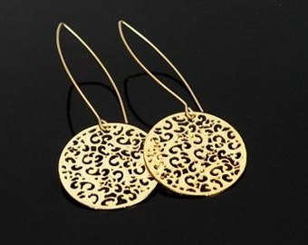 beautiful goldfilled hook lace pattern earrings