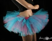 Cotton Candy adult tutu Peek a boo mini micro skirt ballet bellrina dance costume derby --You Choose Size -- Enchanted