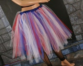 American Girl Streamer tutu skirt Red White and Blue july 4th ballet dance -- You Choose Size -- Enchanted