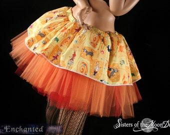 Jetsons Retro orange flame tutu skirt Adult  OOAK Size Small-- Ready to Ship