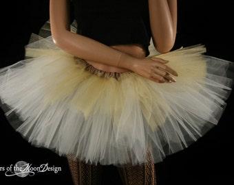 Layered two tone adult dance tutu Gold and ivory ballet ballerina wedding bridal --You Choose Size -- Enchanted