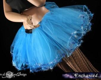 Turquoise Fairy Adult tutu rave trimmed petticoat dance teen costume wedding --You Choose Size -- Enchanted