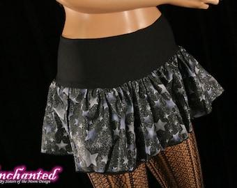 Midnight stars mini skirt Adult tutu topper blue black costume dance rave run -- You chose size -- SistersEnchanted