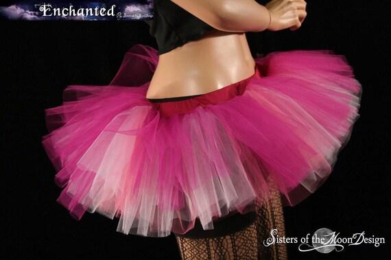 Peek a boo tutu skirt Rose Fairy mini Adult dance ballet costume bridal roller derby --You Choose Size -- Enchanted