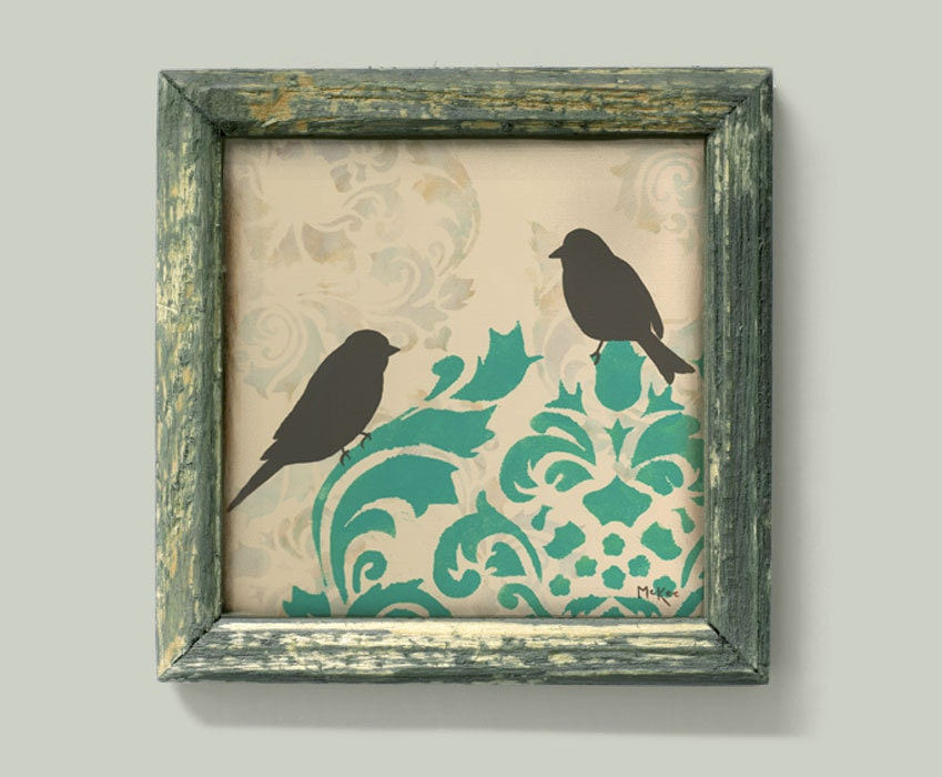 Love Bird Print French Country Bird Wall Decor Art Cottage