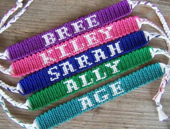 Friendship Bracelets Patterns With Names Alpha ...