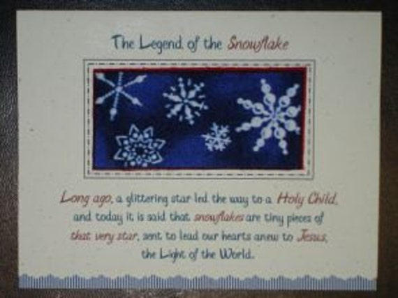 Items similar to handmade christmas card snowflake legend c29 front