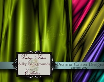 Digital Backgrounds Vintage Silk and Satin Collection 300dpi 12x12