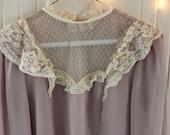 Vintage Victorian Lavender and Lace Blouse