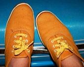 SALE- Vintage 1960s Mustard Sears Super Jeepers Sneakers