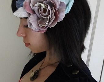 Purple Cotton Candy - Vintage Pastel Flower hair fascinator