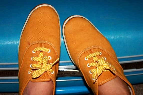 SALE- Vintage 1960s Mustard Sears Super Jeepers Sneakers