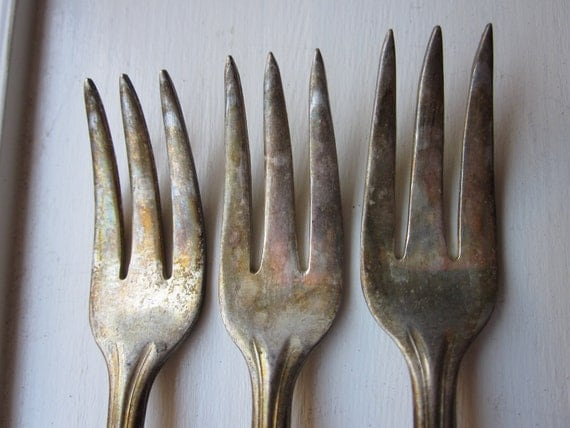Six Antique Lobster Oyster Forks 1935 Crosby Silverware