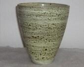 Stunning Mid Century Modern Volcanic Textured Signed Minimalist Cone Vase