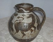 Dave (1943-2010) and Sue Enna Oregon Folk Art Potters 1973 Commemorative Pitcher