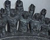 Abstract Modernistic Uplifting Spirits Metal Hanukkah / Chanukkiyah Menorah