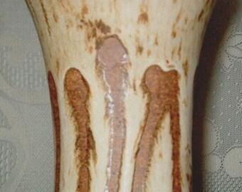 1970s Modern Hand Created Lava Glaze Vase