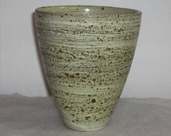 Stunning Mid Century Modern Volcanic Textured Minimalist Cone Vase